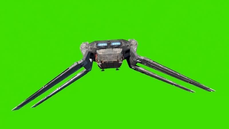 绿幕视频素材货运穿梭机