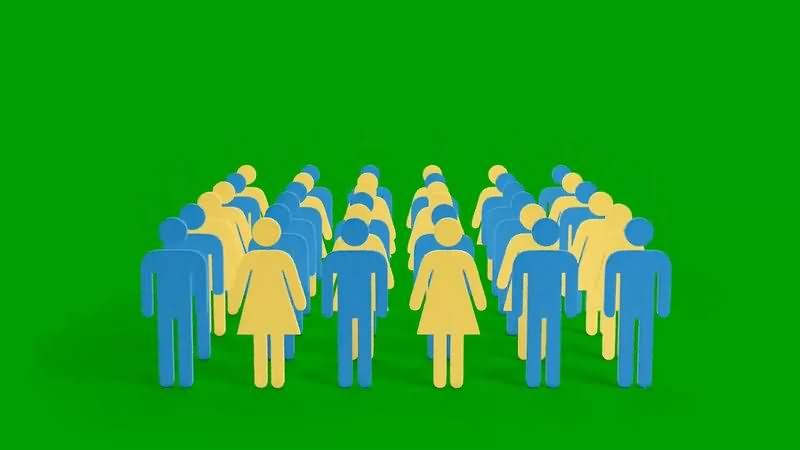 绿幕视频素材人物模型