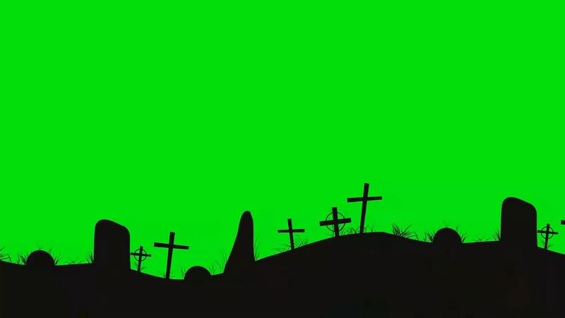 绿幕视频素材坟墓