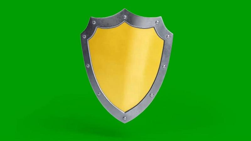 绿幕视频素材盾牌