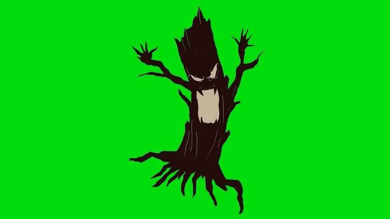 绿幕视频素材精灵树妖