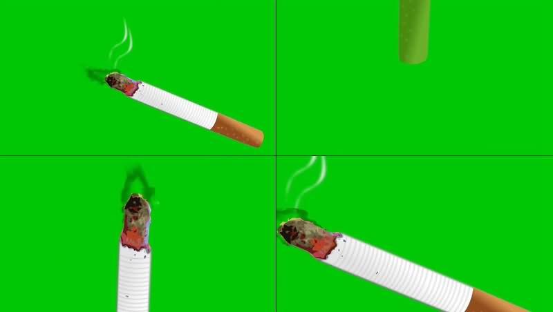 绿幕视频素材香烟