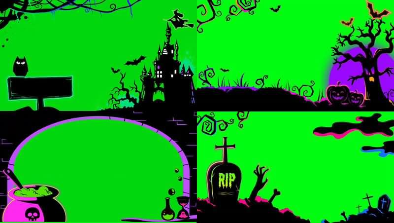 绿幕视频素材坟墓森林