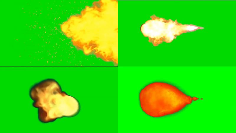 绿幕视频素材火焰攻击