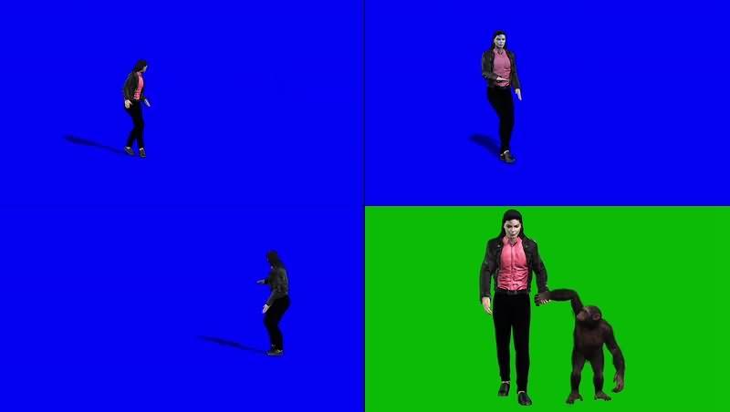 绿幕视频素材迈克尔杰克逊