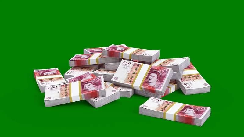绿幕视频素材英镑钞票