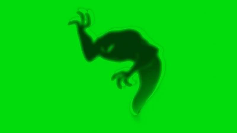 绿幕视频素材幽灵
