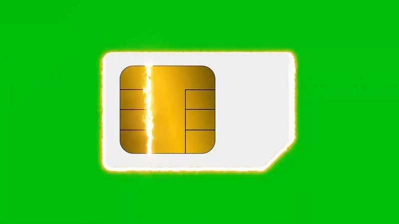 绿幕视频素材SIM手机卡