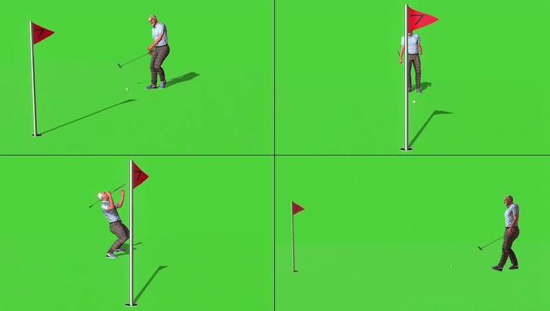 绿幕视频素材高尔夫