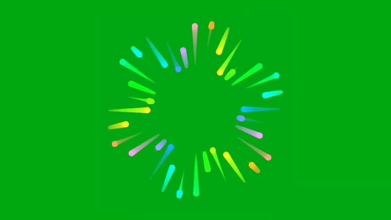 绿幕视频素材彩色光芒