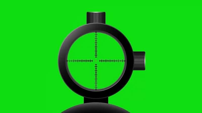 绿幕视频素材狙击镜