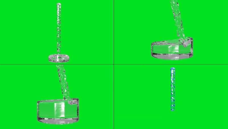 绿幕视频素材水流