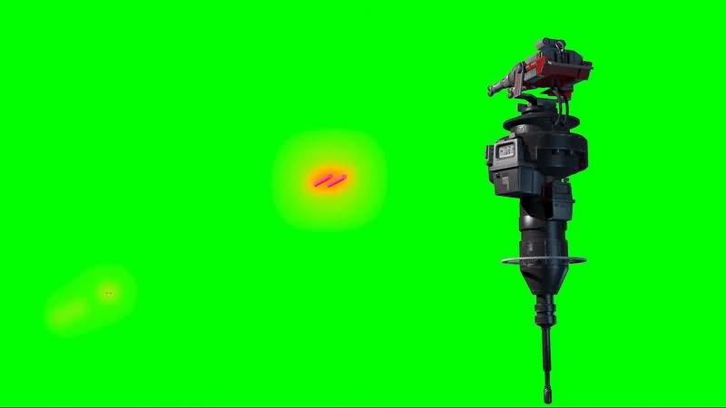 绿幕视频素材防御炮塔