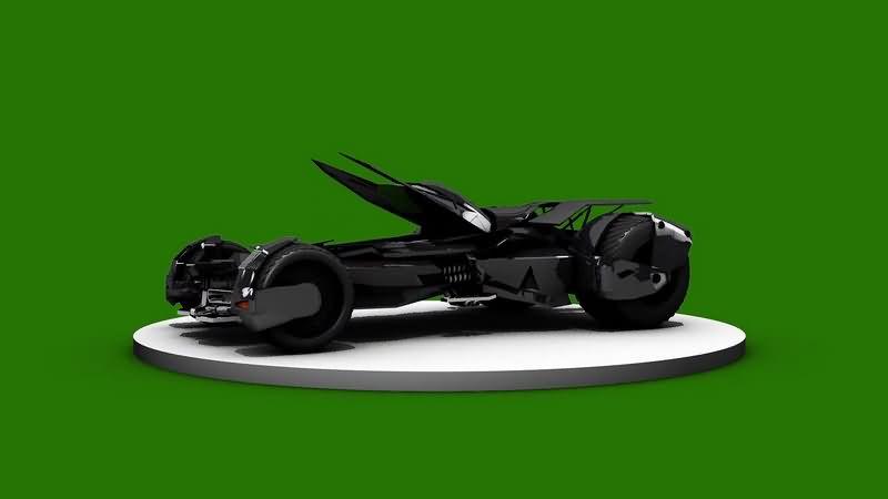 绿幕视频素材蝙蝠车