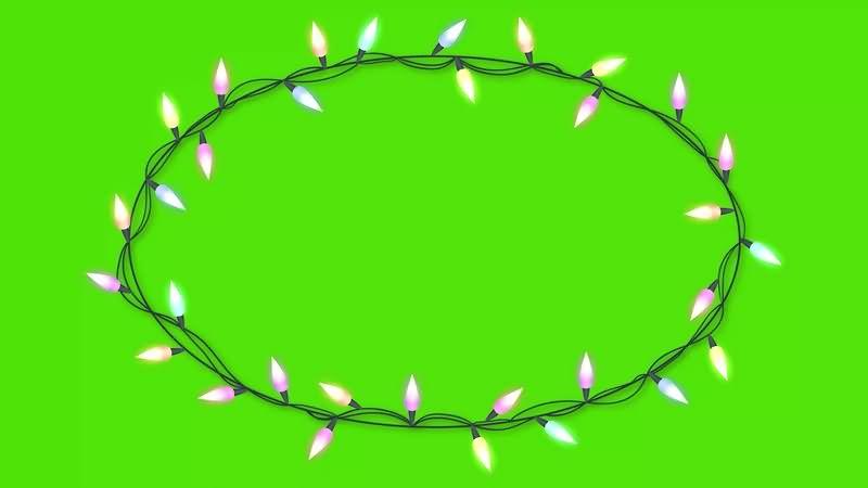 绿幕视频素材环形花灯