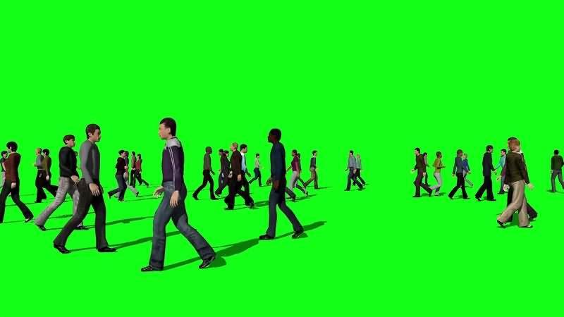 绿幕视频素材人群