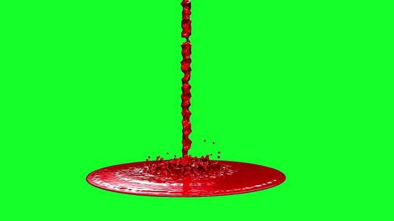 绿屏视频素材血泊血浆