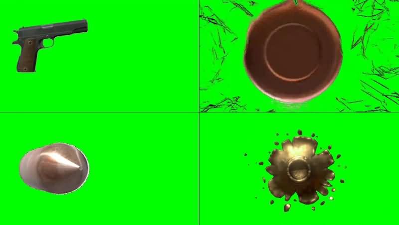 绿幕视频素材子弹发射