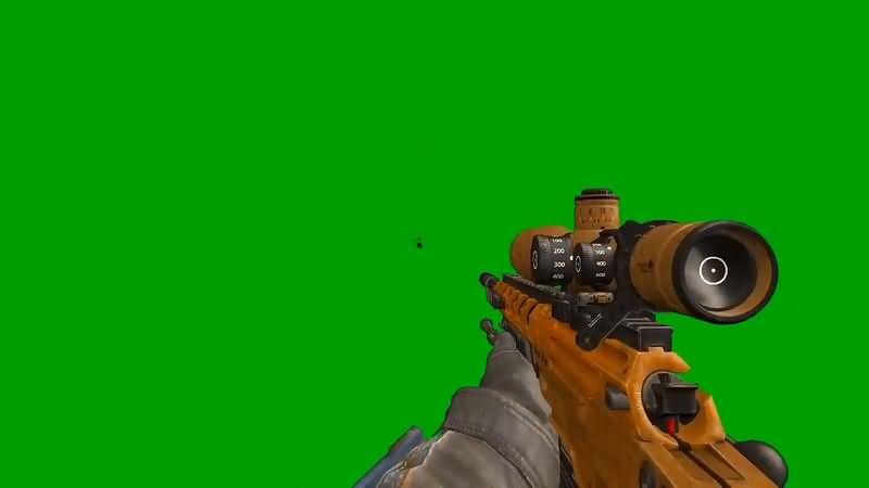 绿幕视频素材阻击枪射击