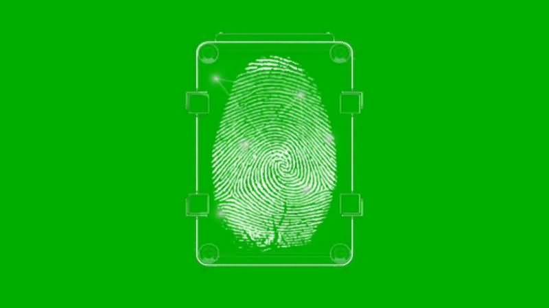 绿幕视频素材指纹扫描