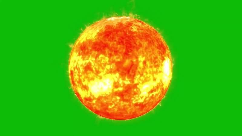 绿幕视频素材太阳