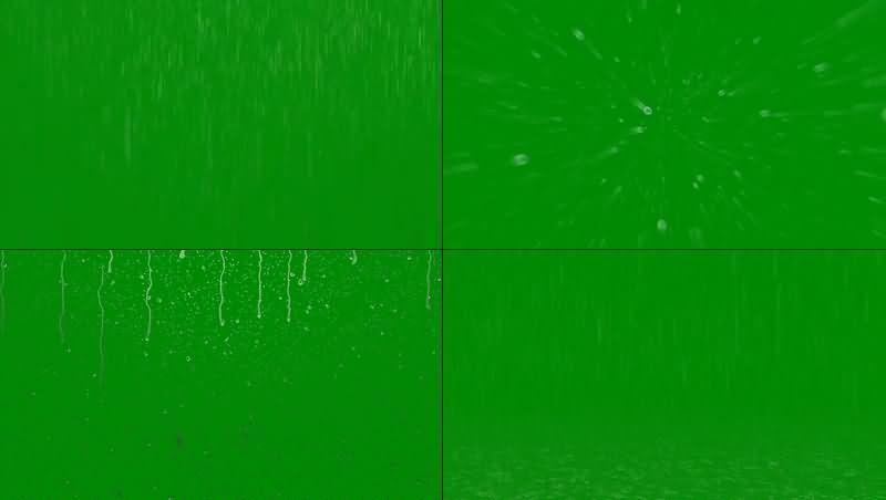 绿幕视频素材雨水