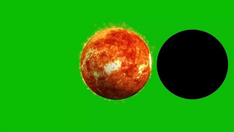 绿幕视频素材日食