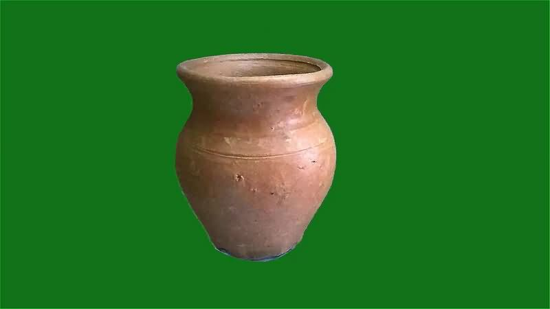 绿幕视频素材陶罐