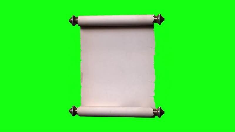 绿幕视频素材古代卷轴