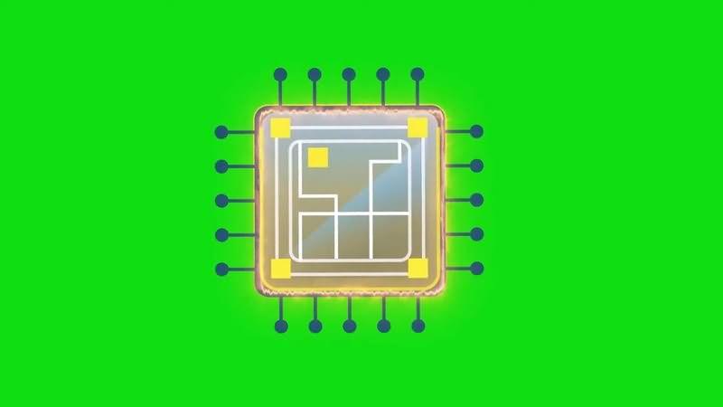 绿幕视频素材CPU芯片