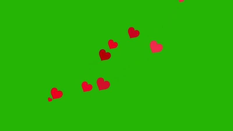 绿幕视频素材爱心