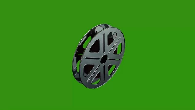 绿幕视频素材电影线轴
