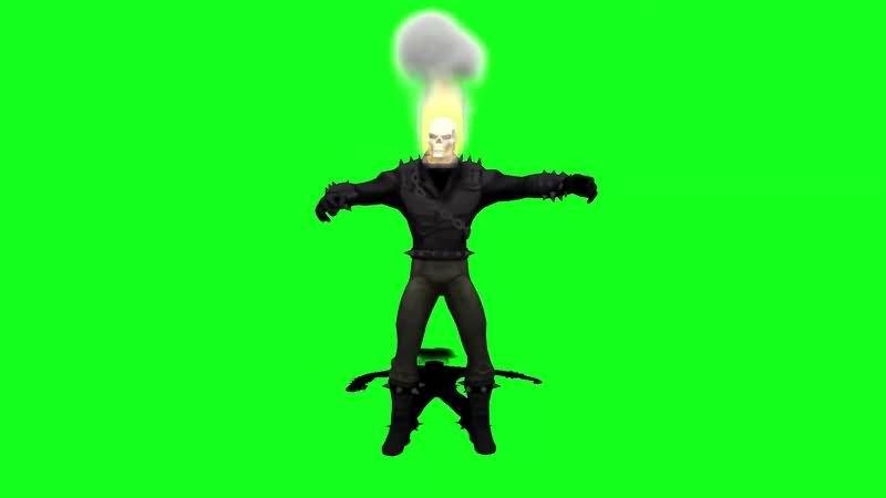 绿幕视频素材恶灵骑士