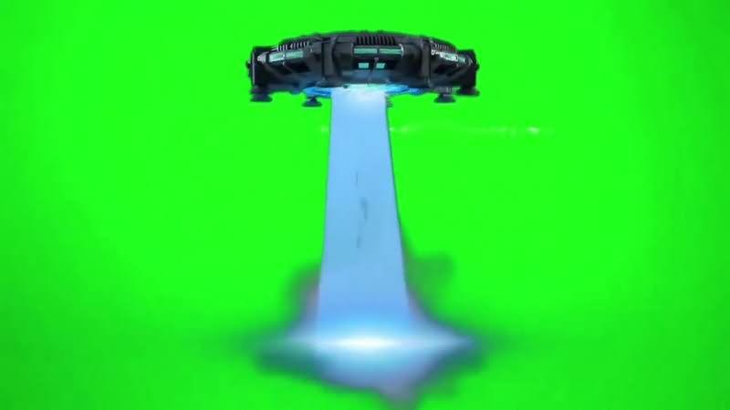 绿幕视频素材飞碟攻击