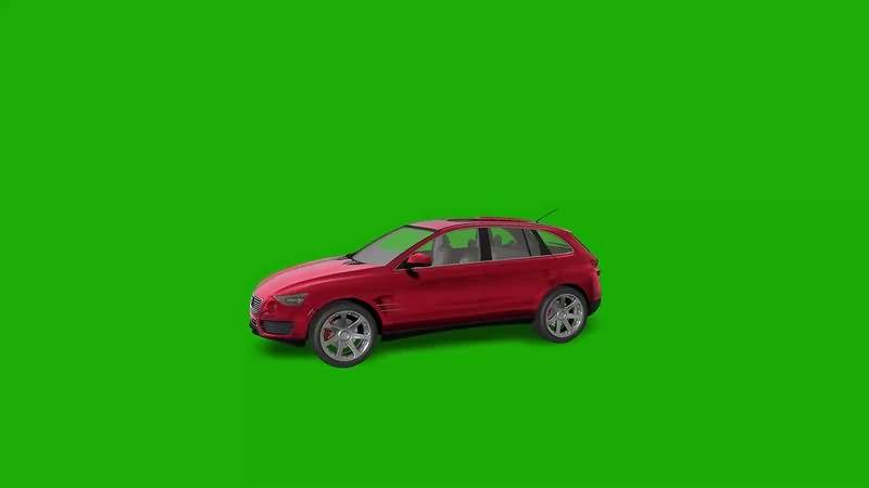 绿幕视频素材轿车