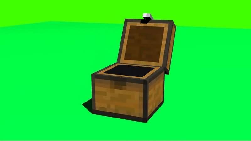 绿幕视频素材木箱