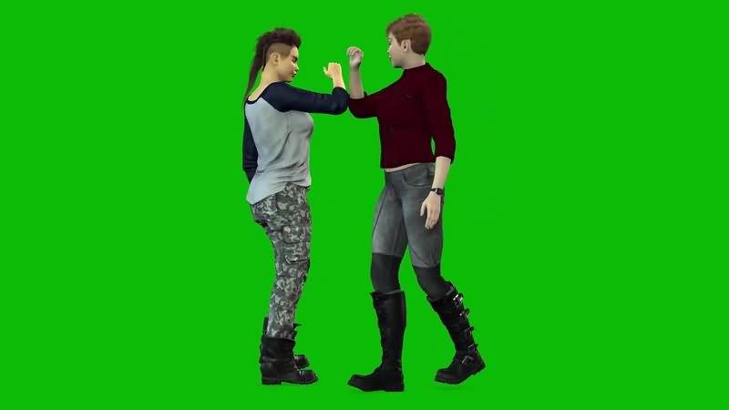 绿幕视频素材美女击掌