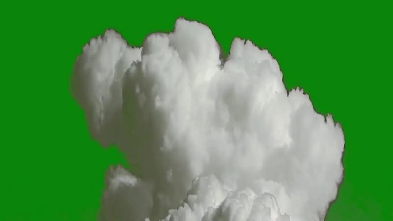 绿幕视频素材爆炸巨烟