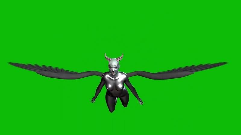 绿幕视频素材女恶魔