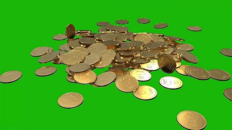 绿幕视频素材金币