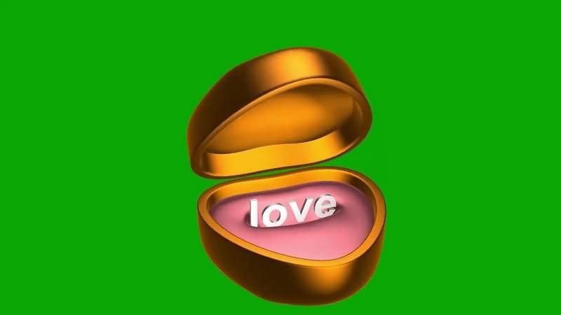 绿幕视频素材戒指盒