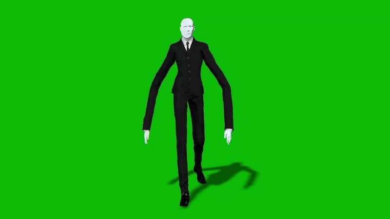 绿幕视频素材瘦长鬼影