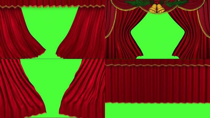 绿幕视频素材舞台大幕