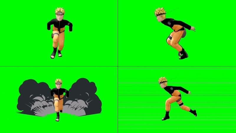绿幕视频素材漩涡鸣人