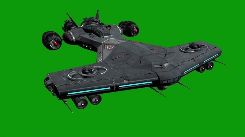 绿幕视频素材天锤飞船