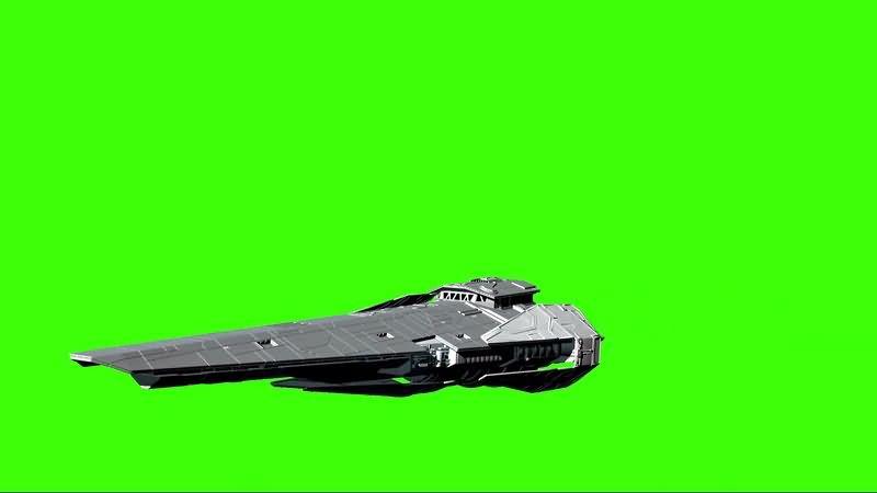 绿幕视频素材巡洋舰