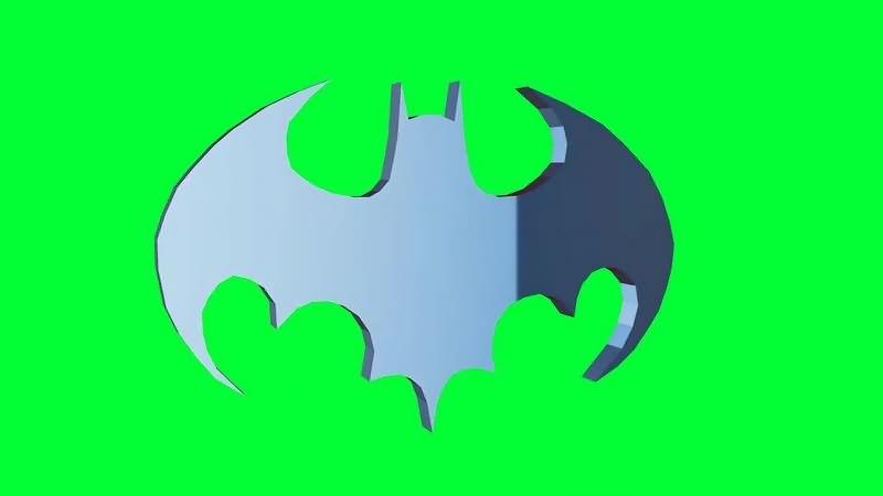 绿幕视频素材蝙蝠侠标志