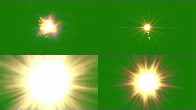 绿幕视频素材阳光