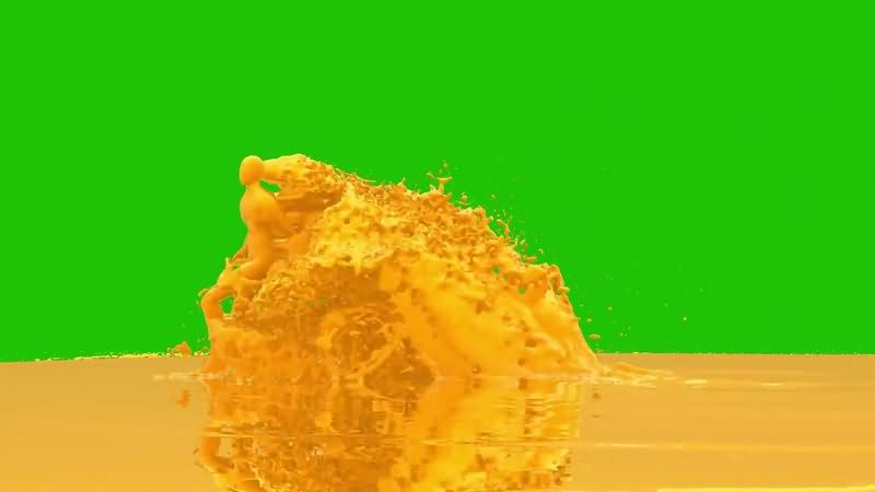 绿幕视频素材果汁