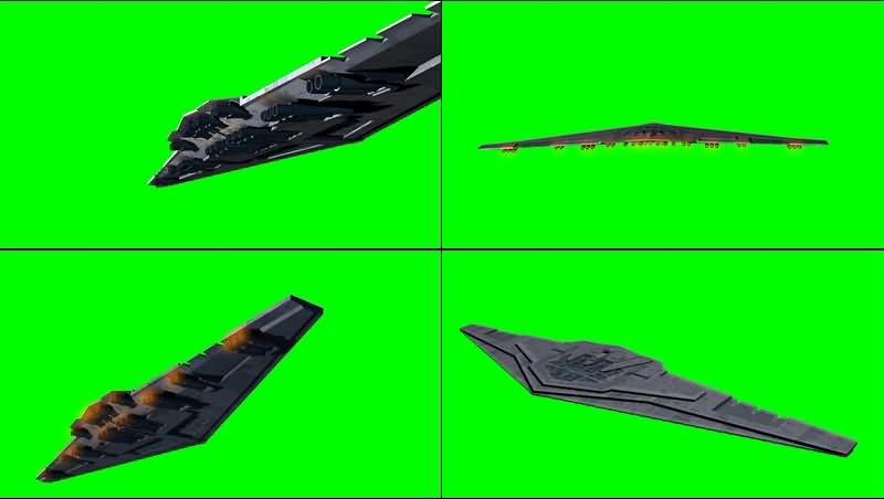 绿幕视频素材歼星舰